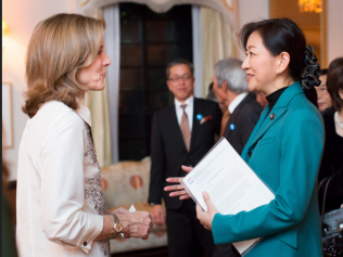 Ambassador Kennedy with Director-General Makiyama
