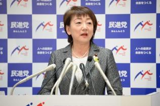 仙台市長選に臨む決意を表明する郡和子議員