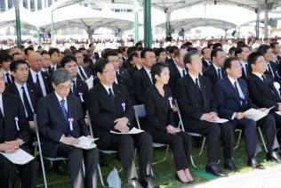 平和記念式典に参列する蓮舫代表